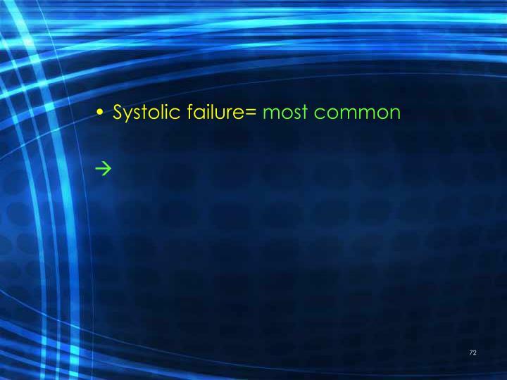 Systolic failure=