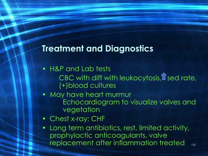 Treatment and Diagnostics
