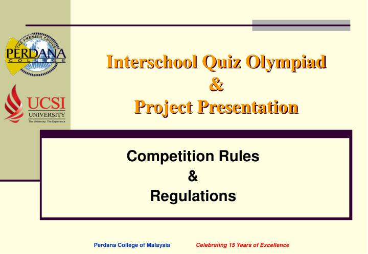 Interschool quiz olympiad project presentation1