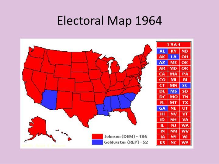 Electoral Map 1964