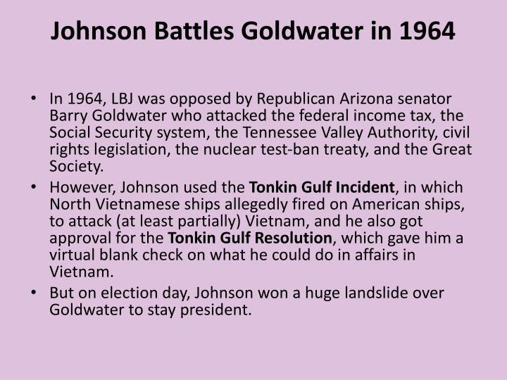 Johnson Battles Goldwater in 1964