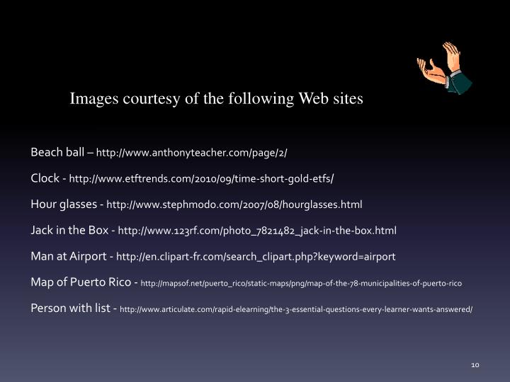 Images courtesy of the following Web sites