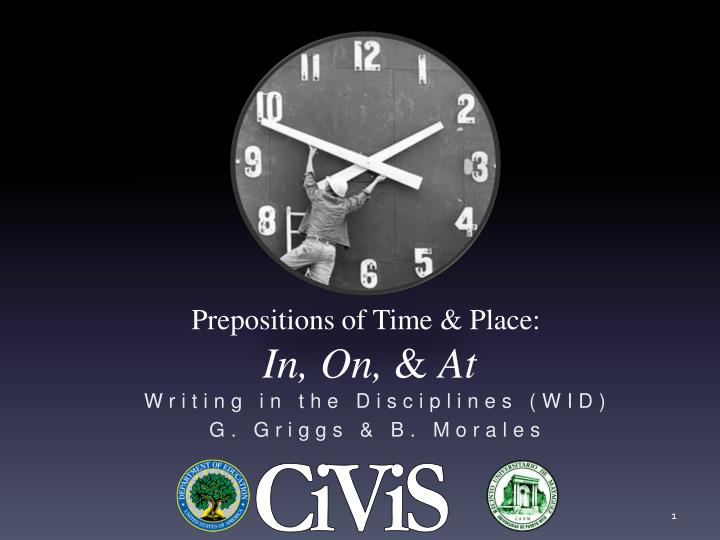 Prepositions of time place in on at