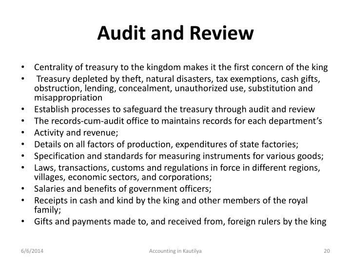 Audit and Review
