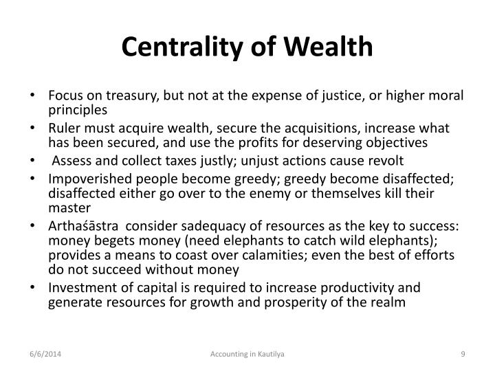 Centrality of Wealth