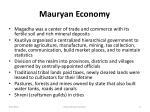 mauryan economy