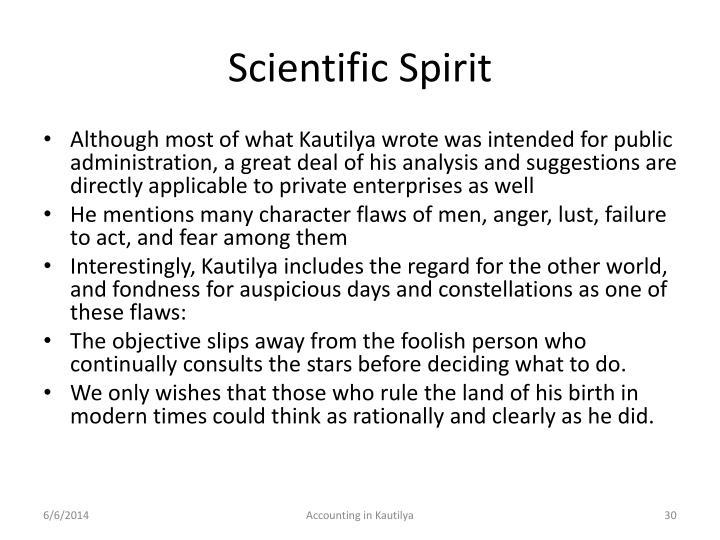 Scientific Spirit