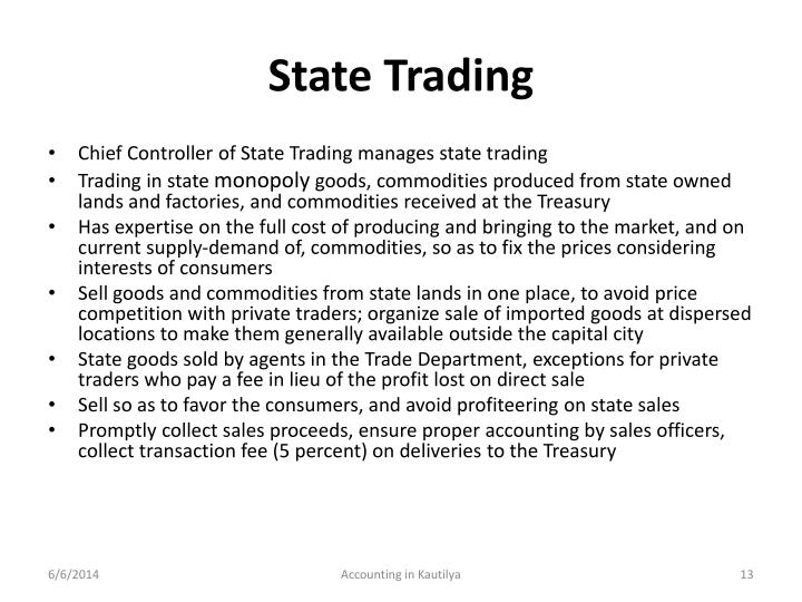 State Trading