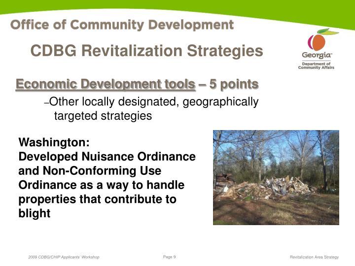 CDBG Revitalization Strategies