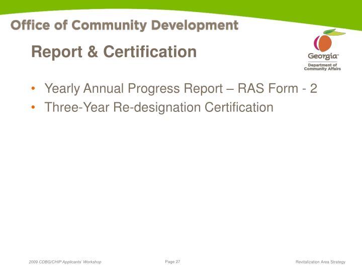 Report & Certification