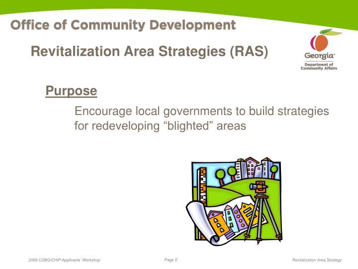 Revitalization Area Strategies (RAS)