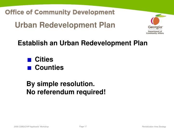 Urban Redevelopment Plan