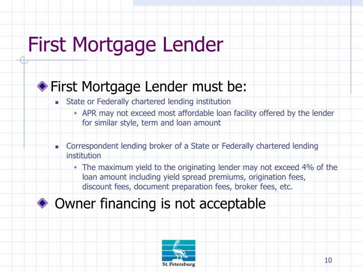 First Mortgage Lender