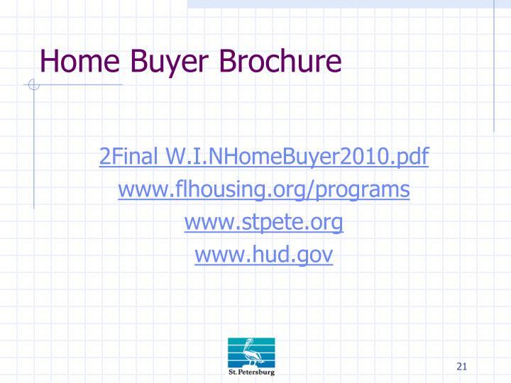 Home Buyer Brochure