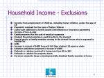 household income exclusions