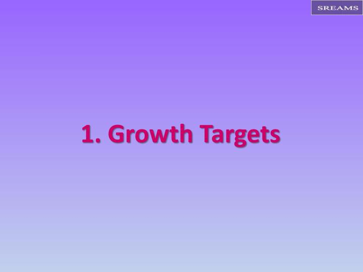 1. Growth Targets