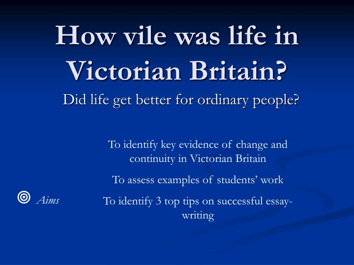 How vile was life in victorian britain