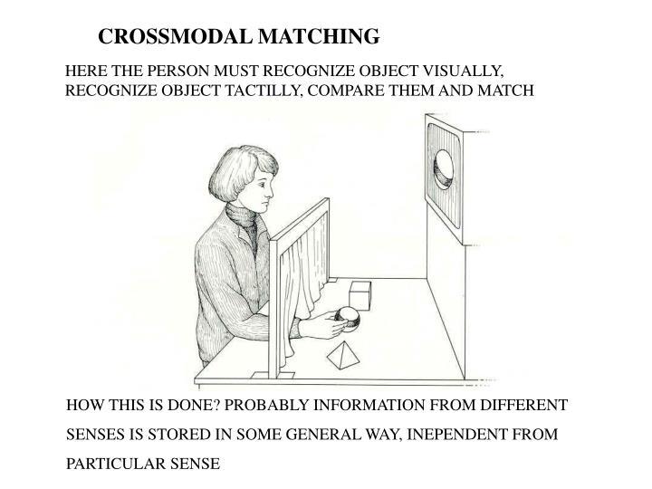 CROSSMODAL MATCHING
