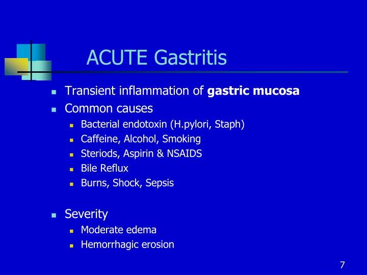 ACUTE Gastritis
