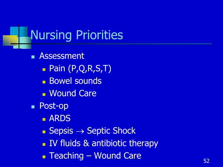Nursing Priorities
