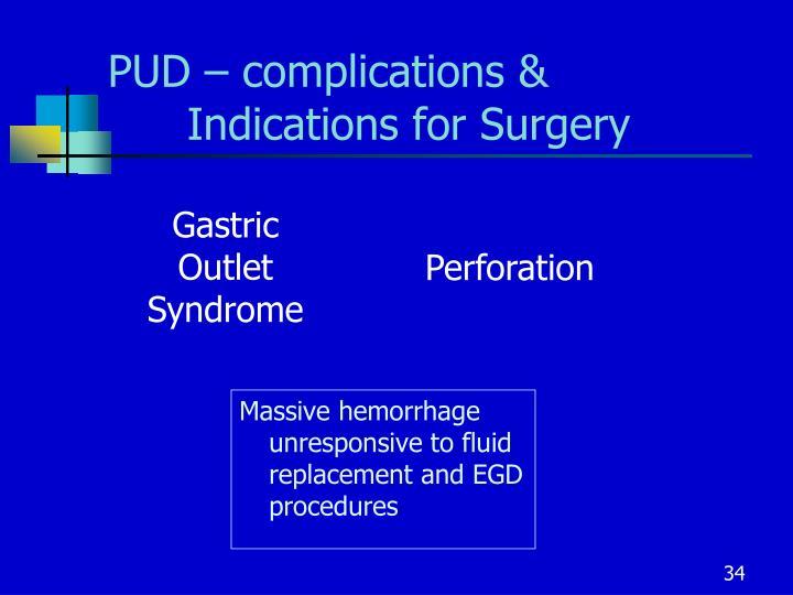 PUD – complications &