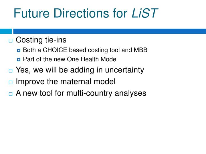 Future Directions for