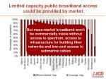 limited capacity public broadband access could be provided by market1