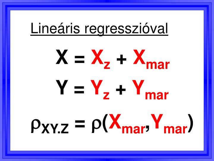 Lineáris regresszióval