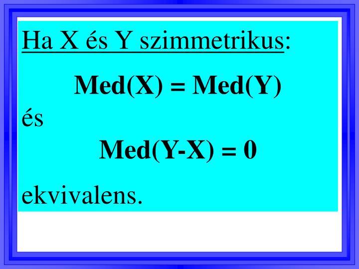Ha X és Y szimmetrikus