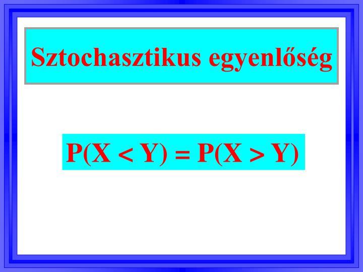 Sztochasztikus egyenlőség