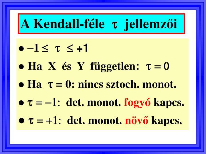 A Kendall-féle