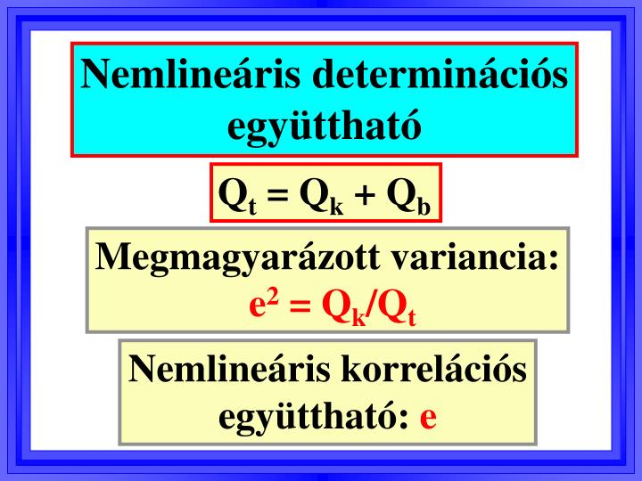 Nemlineáris determinációs