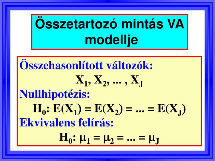 Összetartozó mintás VA