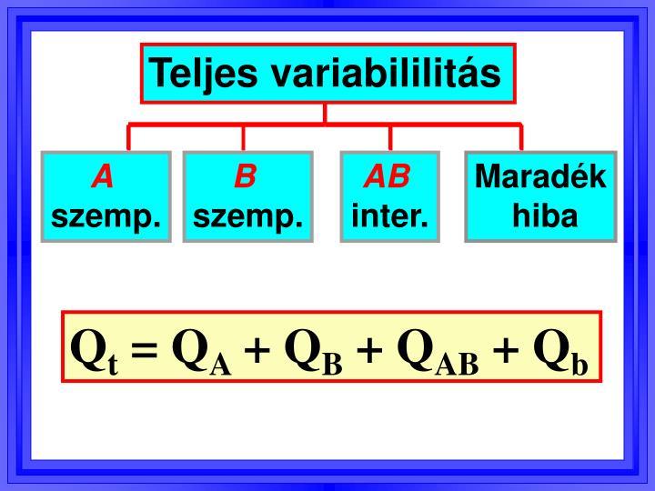 Teljes variabililitás