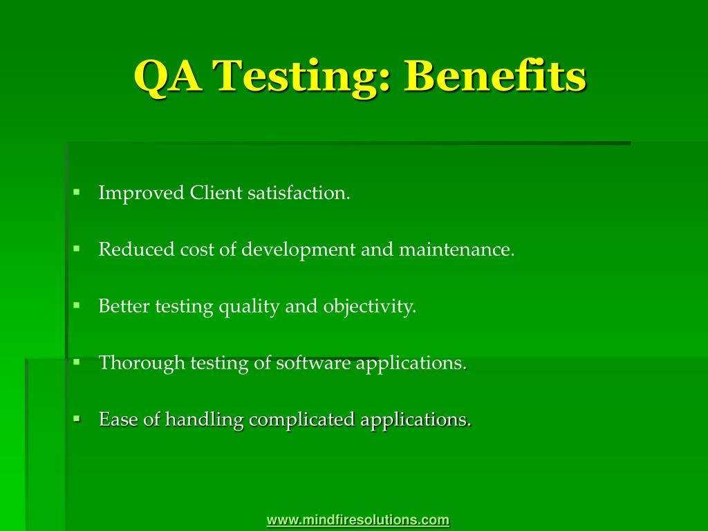 QA Testing: Benefits