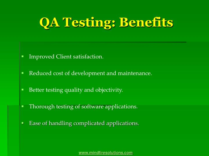 Qa testing benefits