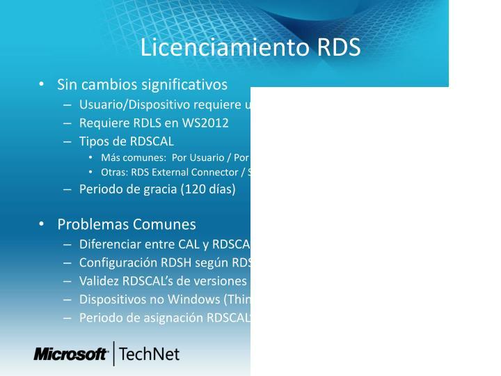 Licenciamiento RDS