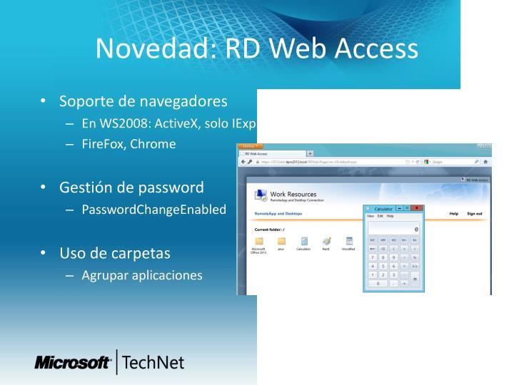 Novedad: RD Web Access
