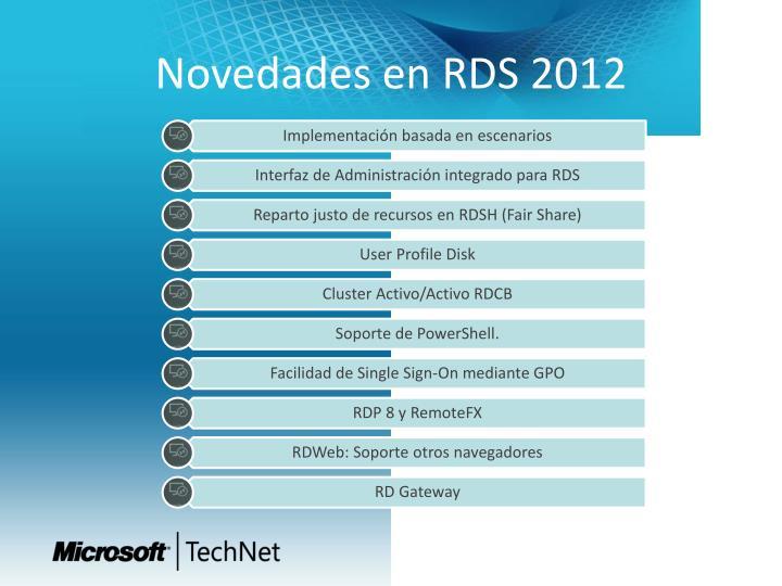 Novedades en RDS 2012