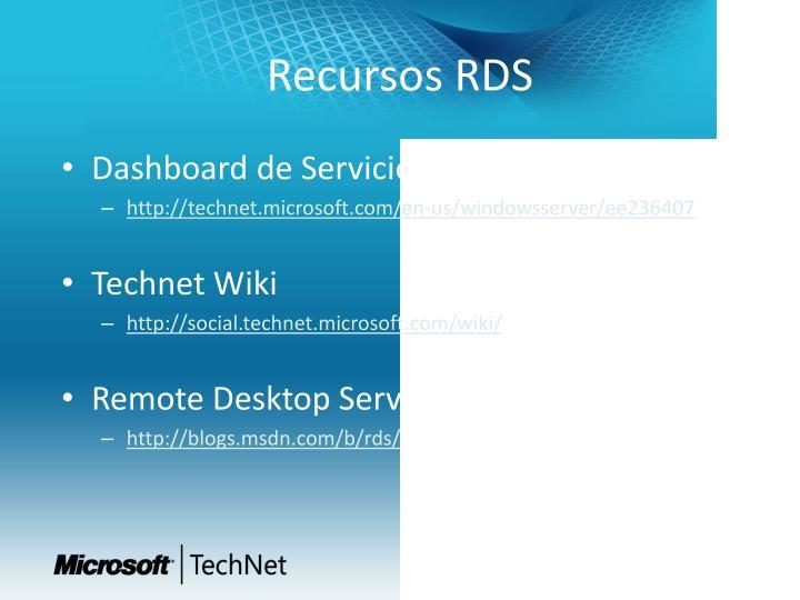 Recursos RDS