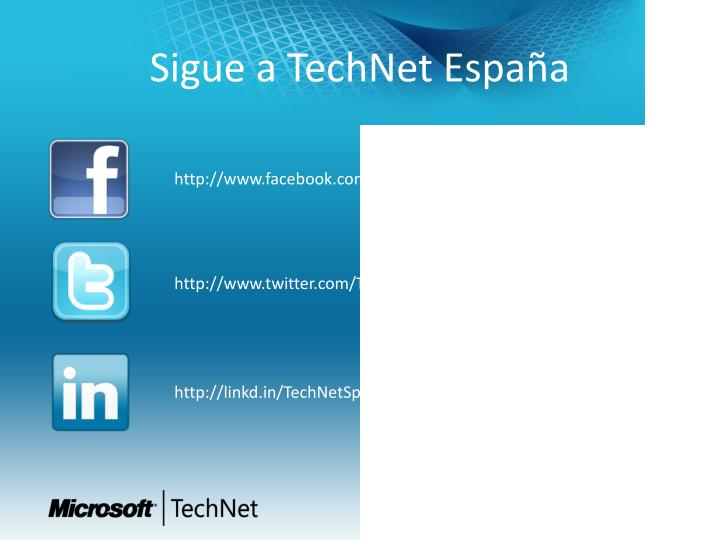 Sigue a TechNet España
