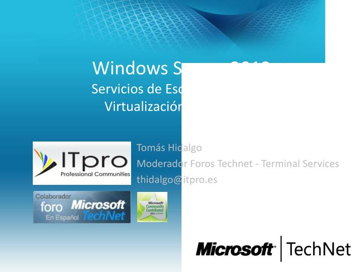 Windows server 2012 servicios de escritorio remoto virtualizaci n de la sesi n