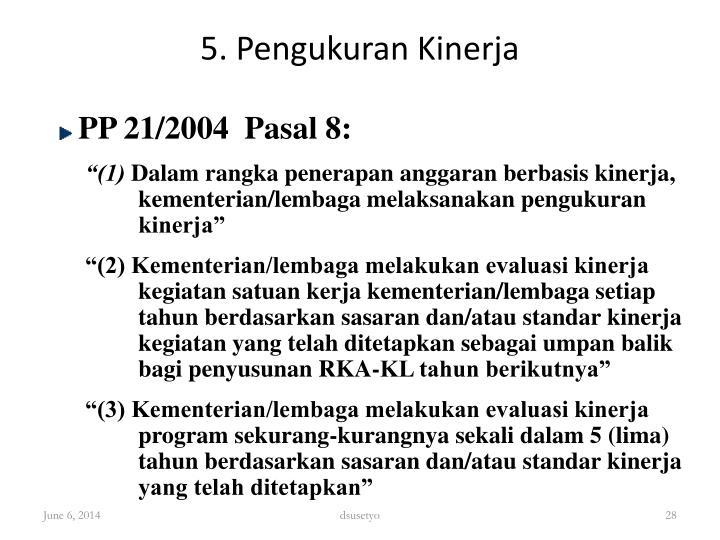 5. Pengukuran Kinerja