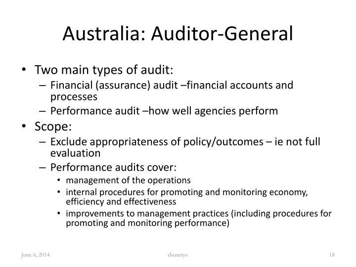 Australia: Auditor-General