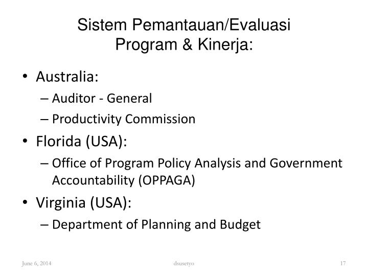 Sistem Pemantauan/Evaluasi