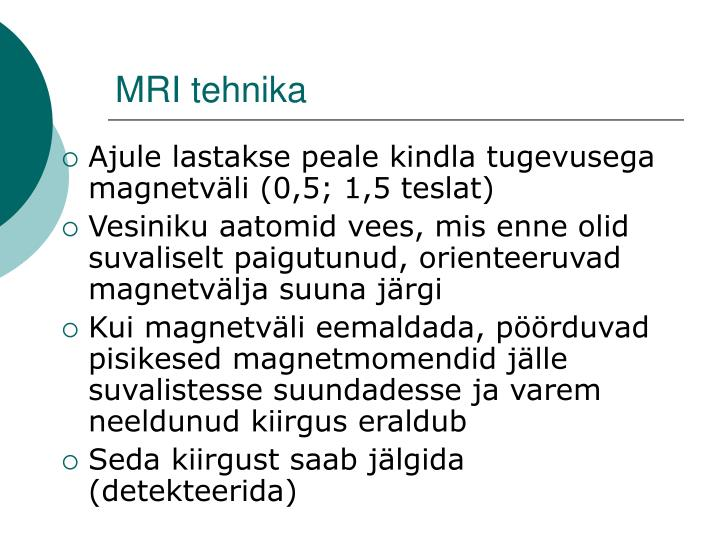 MRI tehnika
