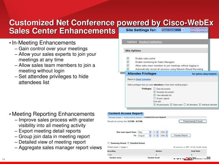 Customized Net Conference powered by Cisco-WebEx