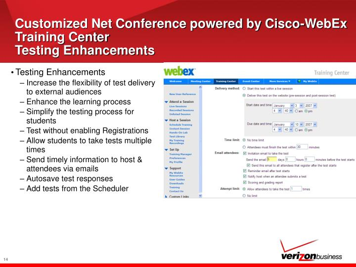 Customized Net Conference powered by Cisco-WebEx Training Center