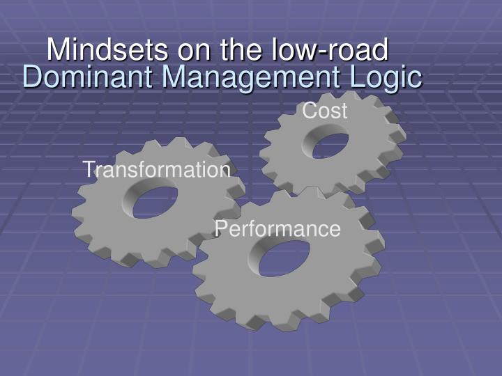 Dominant Management Logic