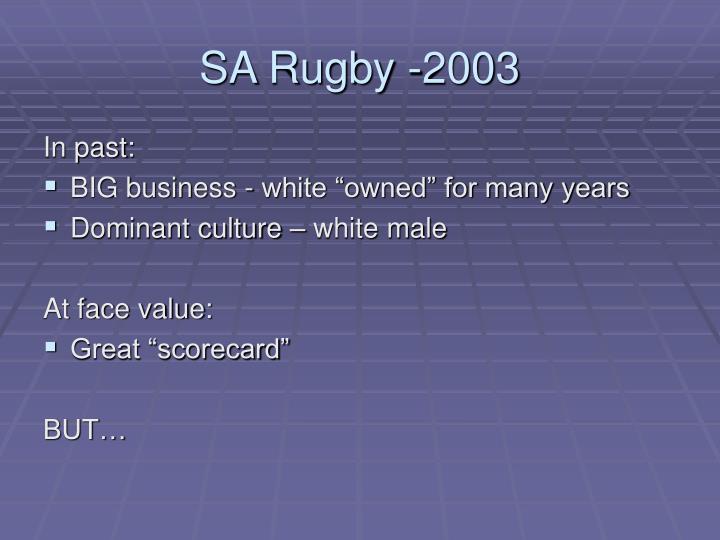 SA Rugby -2003